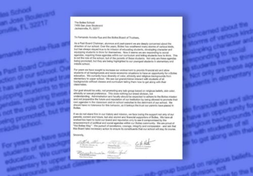 Bolles School dropped racial literacy courses after donors sent letter