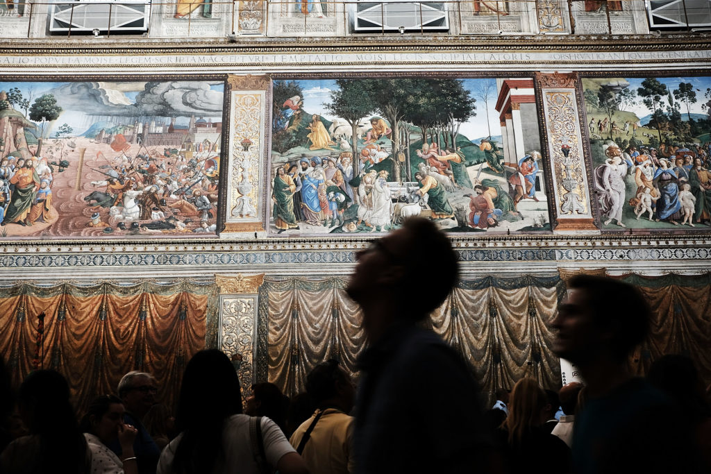 A visit to the Sistine Chapel is just one of many virtual art experiences you can have from home. Photo by Spencer Platt/Getty Images.