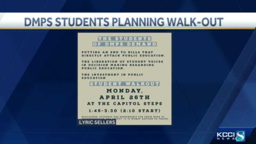 Des Moines students plan walkout over education-related bills