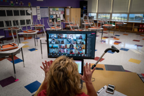 Over half of California public school students remain in distance learning