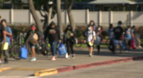 Wearing masks, Hawaii's public school kids return for a new school year with in-person learning